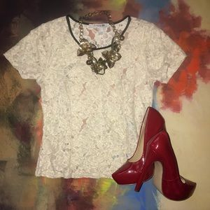 Forever 21 Lace Detail Top